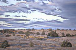 Digitally altered painterly view of Canyon de Chelly National Monument, Arizona Royalty Free Stock Image