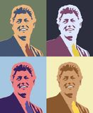 Digitally altered Warhol style view of Bill Clinton in four square configuration Royalty Free Stock Photos
