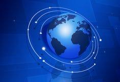 Digitally Communicated World Stock Image