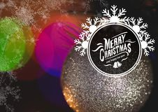 Digitally composite image of merry christmas and happy new year message Royalty Free Stock Photography