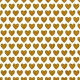 Gold Glitter Love Heart Paper. A digitally created metallic love heart glitter starry background design Royalty Free Stock Image