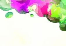 Watercolor Page Border Decoration Royalty Free Stock Photos