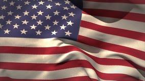 Digitally generated american flag waving stock video footage