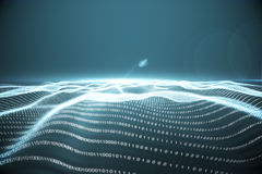 Digitally generated binary code landscape stock illustration