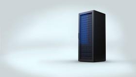 Digitally generated black server tower Royalty Free Stock Photos