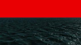 Digitally generated blue ocean moving stock video