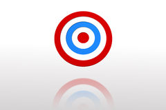 Digitally generated Blue and red target Stock Photo