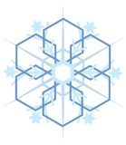Digitally generated blue snow flake Royalty Free Stock Photos