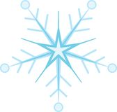 Digitally generated blue snow flake Royalty Free Stock Image