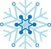 Digitally generated blue snow flake Stock Image