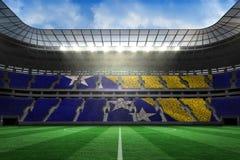 Digitally generated bosnian flag Royalty Free Stock Photo
