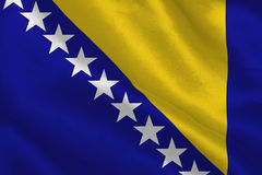 Digitally generated bosnian flag Royalty Free Stock Photo