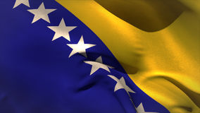 Digitally generated bosnian flag waving stock video footage