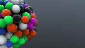 Digitally generated cluster of colorful bubbles Royalty Free Stock Images