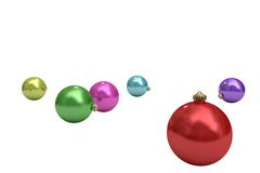 Digitally generated colourful christmas baubles Royalty Free Stock Photo