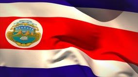 Digitally generated costa rica flag waving stock video footage