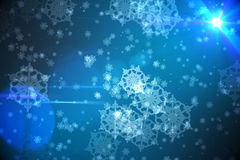 Digitally generated delicate snowflake design Royalty Free Stock Image