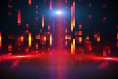 Digitally generated disco background Royalty Free Stock Photos