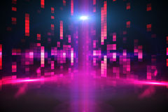 Digitally generated disco background Stock Photography