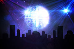 Digitally generated disco ball background Royalty Free Stock Images