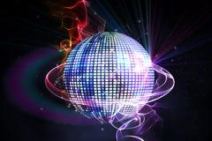 Digitally generated disco ball Royalty Free Stock Photo