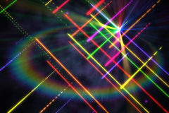 Digitally generated disco laser background Stock Photo