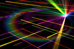 Digitally generated disco laser background Royalty Free Stock Images