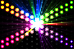 Digitally generated disco light background Stock Photo