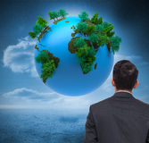 Digitally generated earth floating in air Royalty Free Stock Photography