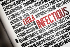 Digitally generated ebola word cluster Royalty Free Stock Image
