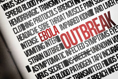 Digitally generated ebola word cluster Stock Photo