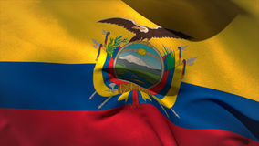 Digitally generated ecuador flag waving stock video footage