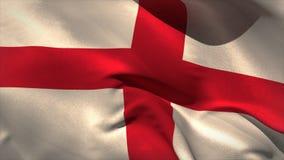 Digitally generated england flag waving stock video footage