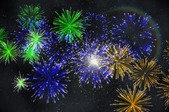 Digitally Generated Firework Design Stock Photography