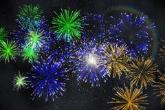 Digitally generated firework design Stock Photography
