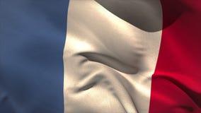 Digitally generated france flag waving stock video