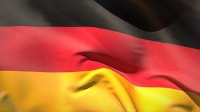 Digitally generated germany flag waving stock video footage