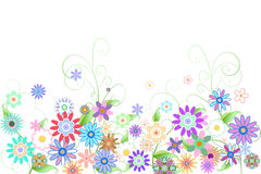 Digitally generated girly floral design Royalty Free Stock Photos