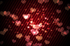 Digitally generated girly heart design Stock Photos