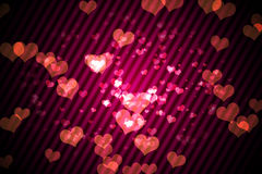 Digitally generated girly heart design Royalty Free Stock Images