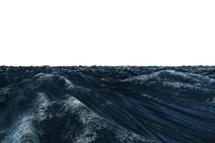 Digitally generated graphic Rough blue ocean Royalty Free Stock Photography