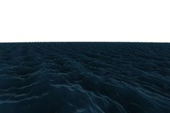 Digitally generated graphic Rough blue ocean Royalty Free Stock Images
