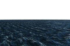 Digitally generated graphic Rough blue ocean Stock Photos