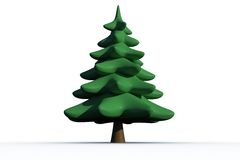 Digitally generated green Fir tree Stock Image