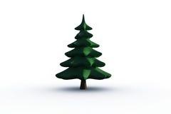 Digitally generated green Fir tree Stock Photos