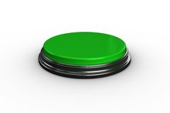 Digitally generated green push button Stock Images