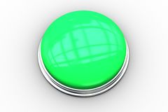 Digitally generated green push button Royalty Free Stock Image