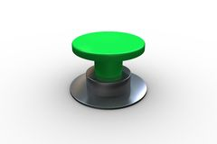 Digitally generated green push button Royalty Free Stock Photography