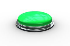 Digitally generated green push button Royalty Free Stock Photos