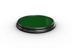 Digitally generated green push button Stock Photography